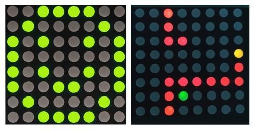 Dva typy maticových displejů - mono a RGB