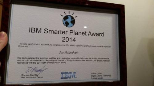 Cena Smarter Planet Award