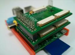Dva moduly připojené k Raspberry PI