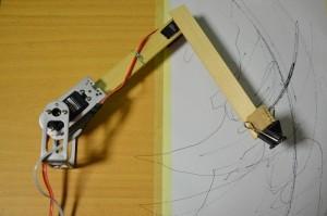 Robotické rameno, krok 12.