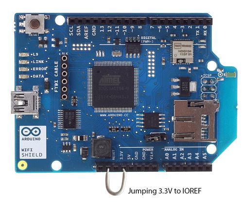 Propojení IOREF a 3.3V pro starší typy desek Arduino