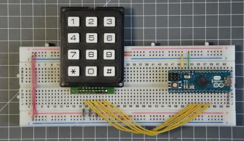 Připojení keypadu a Arduina Micro