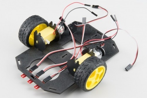 Připevnění senzorů k podvozku - RedBot
