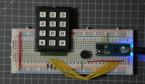 Klávesnice pro zabezpečovací systém s Arduinem Micro