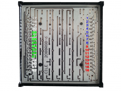 Piny matrix RGB displeje
