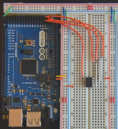 Propojení Arduino Mega a ATtiny85