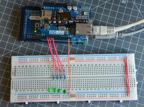 Ovládání LED diod přes Ethernet Shield