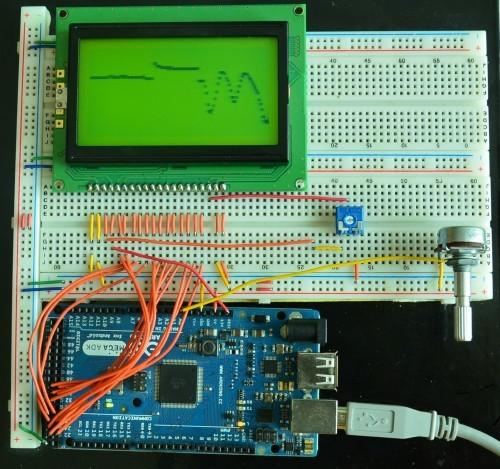 Graf naměřených hodnot z Arduina