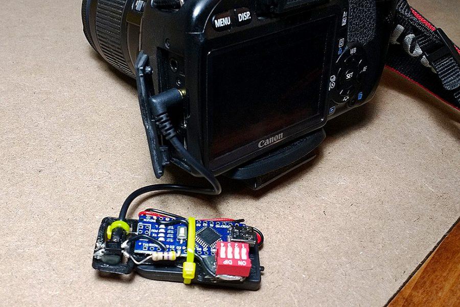 Arduino Intervalometr - Připojení k fotoaparátu