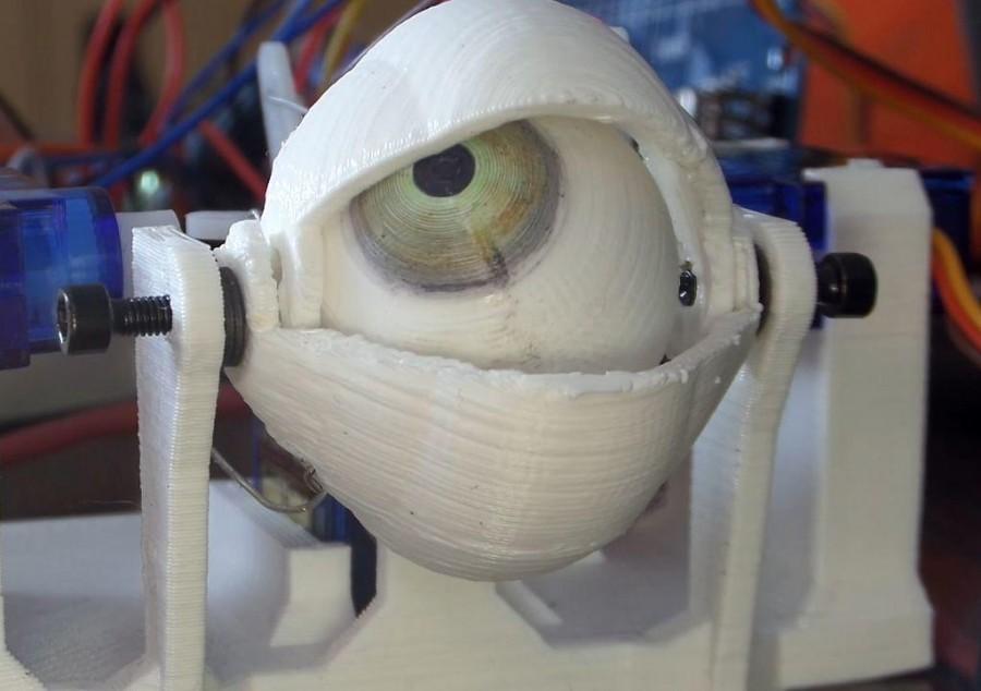 Arduino animatronické oko - Detail