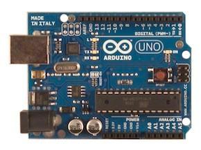 Arduino Uno vrchní pohled