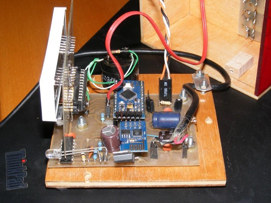 Arduino hodiny s ESP8266 - Zapojení