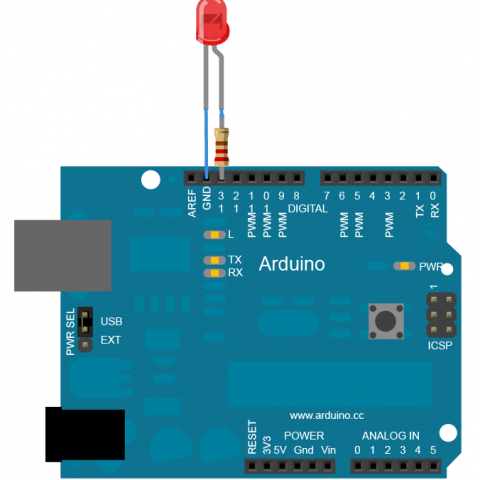 Zapojení LED diody do arduina