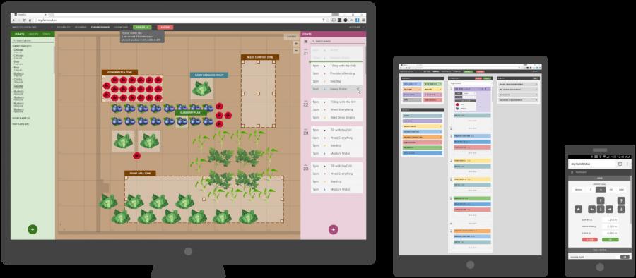 Farmbot – webové rozhraní