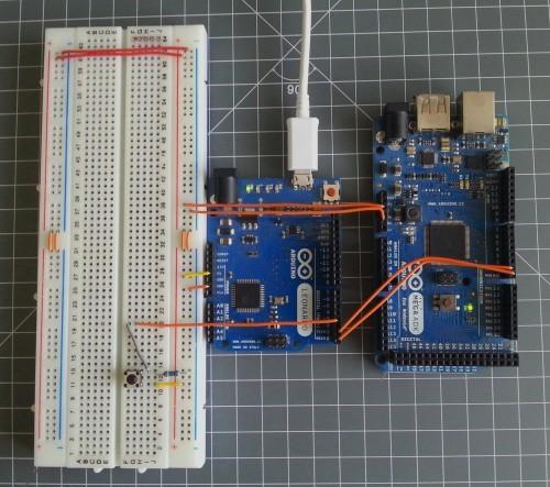 Propojení Arduina Leonardo s Arduinem Mega