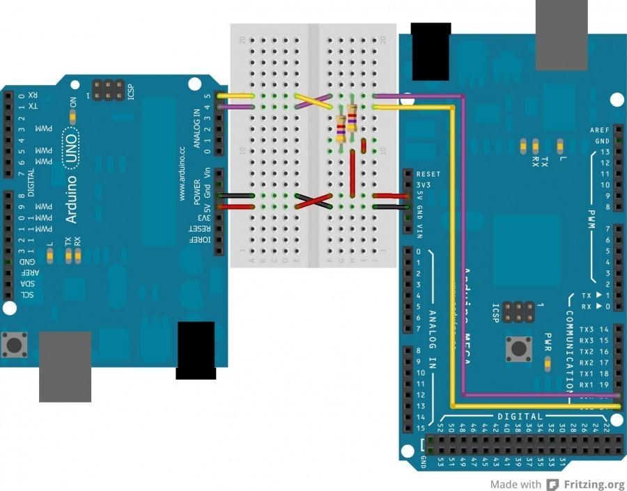 Sběrnice I2C a propojení dvou Arduin