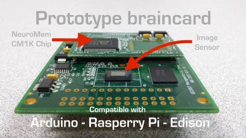 BrainCard (prototyp, převazto z https://www.indiegogo.com/projects/braincard-pattern-recognition-for-all#/