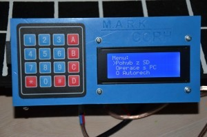 Robotická ruka - ovládací panel