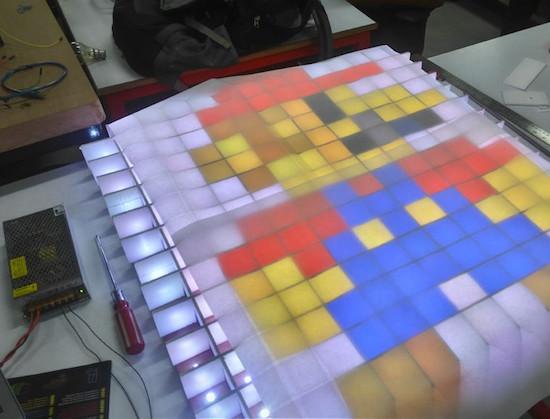 Arduino stolek s RGB maticovým displejem