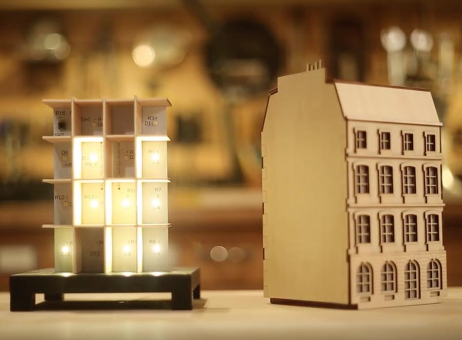 Arduino binární hodiny - Pohled dovnitř