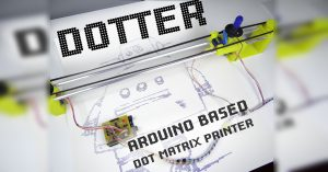 Arduino plotter - jehličková tiskárna