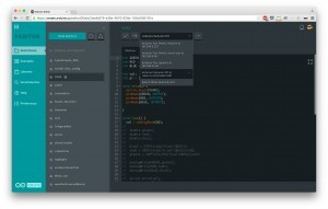 Arduino Create Editor kódu