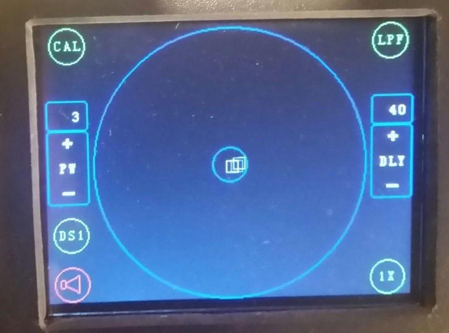 DIY Arduino detektor kovu - Displej se zobrazením předmětu