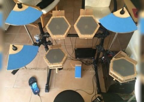 Arduino elektronické bicí na Arduino Mega