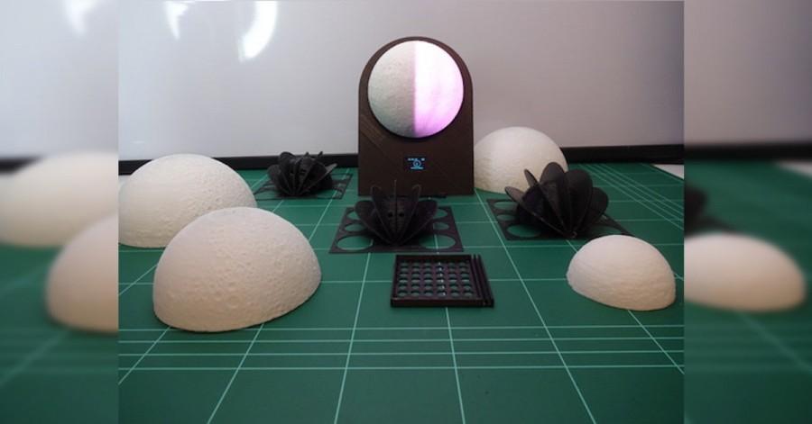 Arduino hodiny s fázemi měsíce