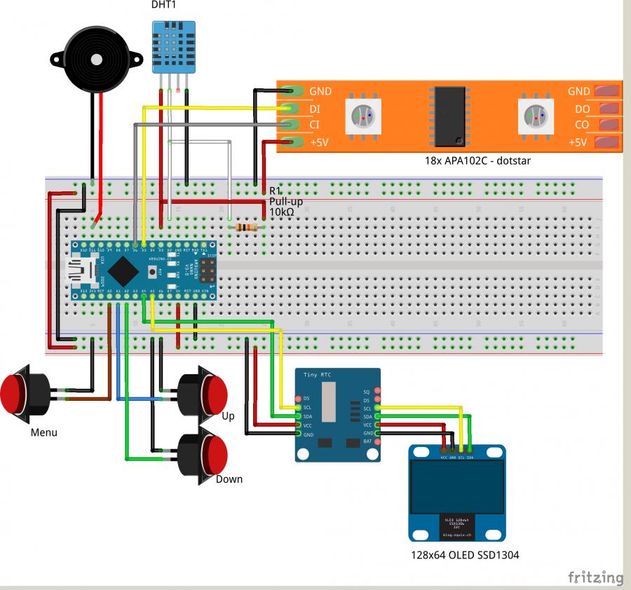 Zapojení Arduino hodin s fázemi měsíce