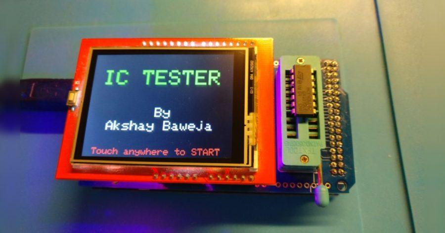 Arduino tester integrovaných obvodů