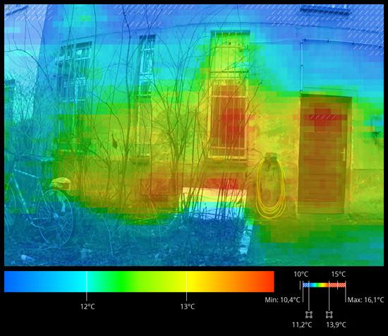 Arduino DIY IR infrakamera - Výsledný obrázek