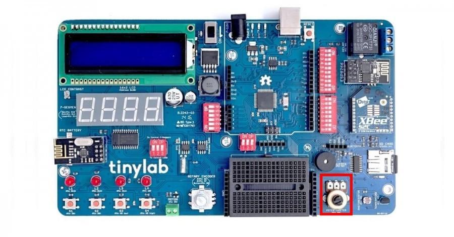 Potenciometr na Arduino desce TinyLab