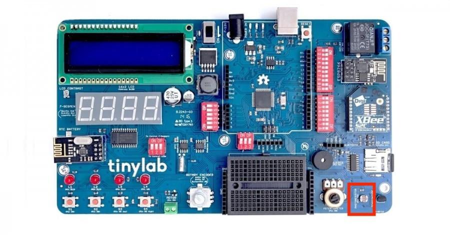 Arduino Kit TinyLab - fotorezistor