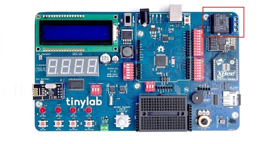 Arduino TinyLab - relé