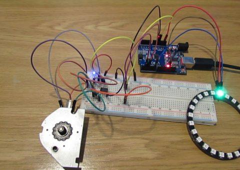Arduino: Krokový motor jako enkodér