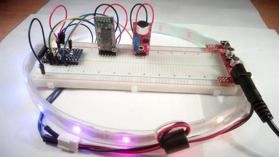 Zapojení Arduino lampionu na kontaktním poli