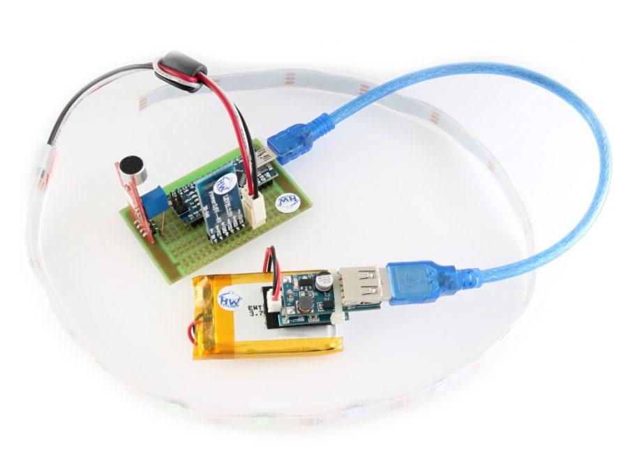 Arduino lampión - střeva (řídící PCB, zálohovaný zdroj, LED pásek)