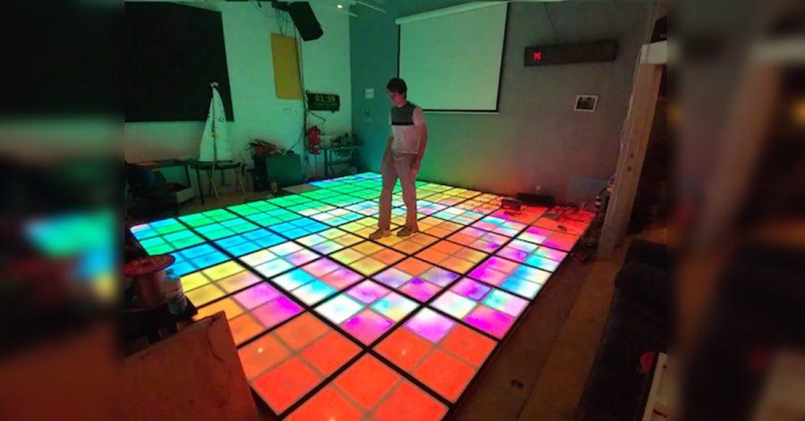 Arduino LED taneční podlaha