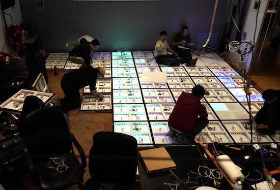 Arduino interaktivní LED podlaha - Momentka ze stavby