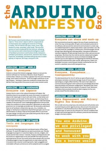 Arduino.org manifesto