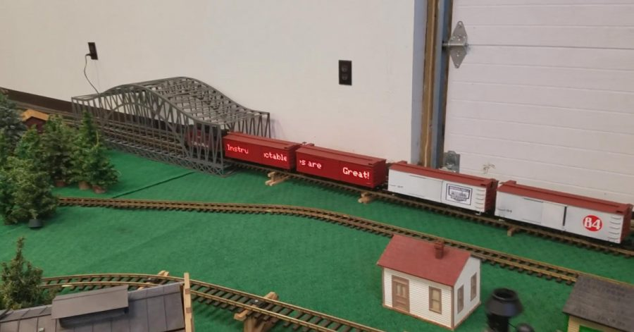 Arduino maticový displej na modelové železnici