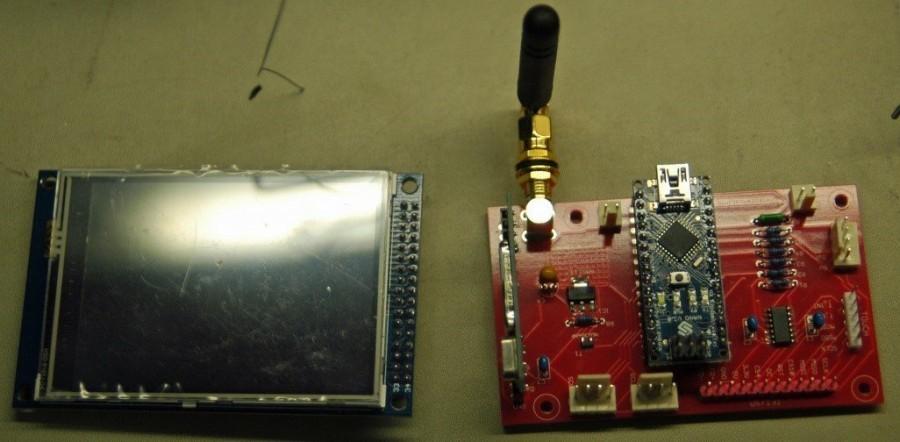 Arduino meteostanice WeatherDuino - Bezdrátový displej