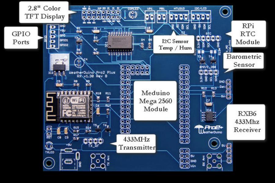 Arduino meteostanice WeatherDuino - Deska plošného spoje