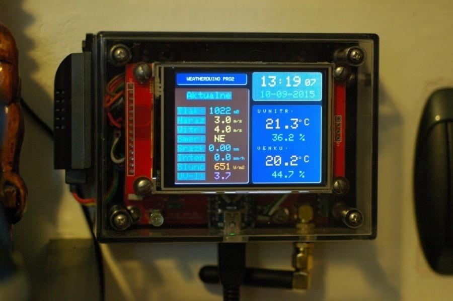 Arduino meteostanice WeatherDuino - Finální provedení displeje