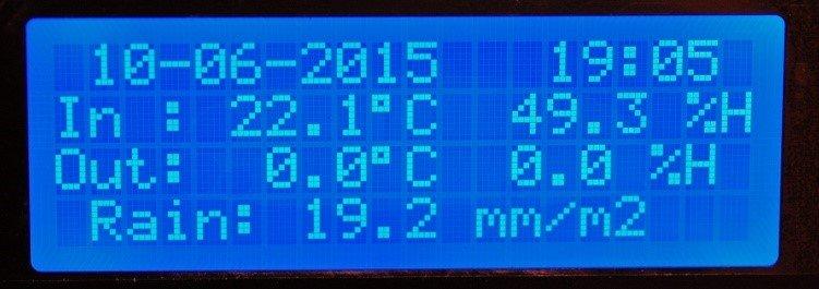 Arduino meteostanice WeatherDuino - Displej RX jednotky