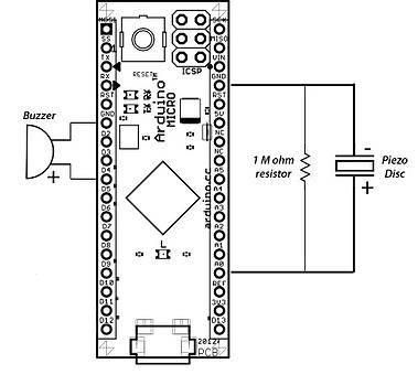 Arduino Micro epileptický monitor