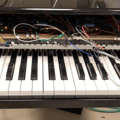 Arduino Midi klavír
