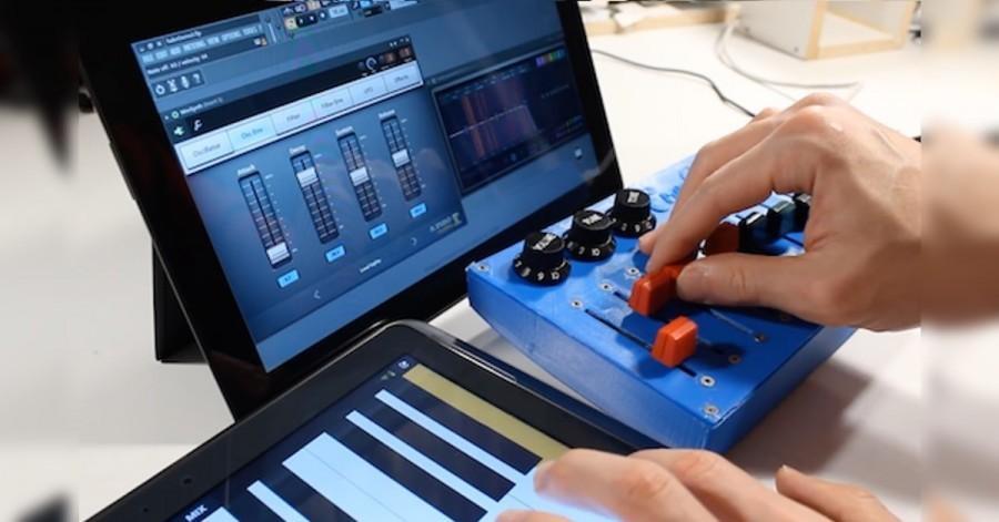 Arduino MIDI mixážní pult