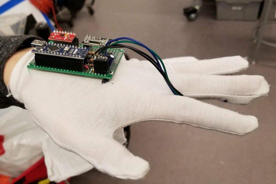 Arduino monitor spánku - Rukavice